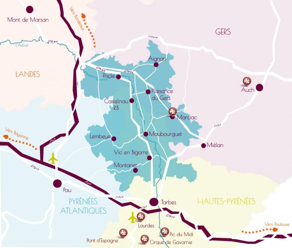 A proximité de plusieurs Grands sites de Midi-Pyrénées
